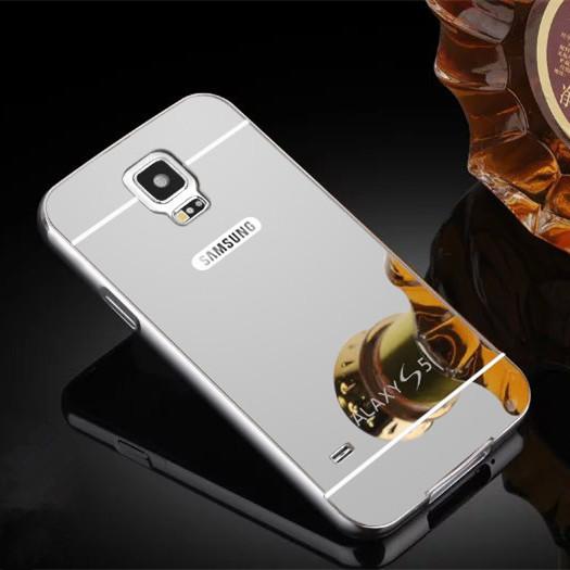 Чехол для Samung Galaxy S5 зеркальный серебристый