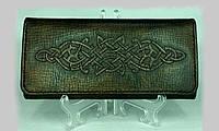 Женский кожаный кошелёк ручной работы