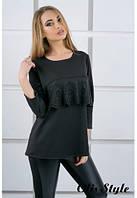 Блуза Альмина черный (44-52), фото 1