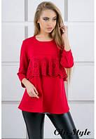Блуза Альмина красный (44-52), фото 1