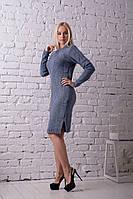 Платье вязанное Карина джинс (46-50), фото 1