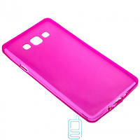 Чехол силиконовый цветной Samsung A7 2015 A700 розовый