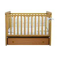 Детская кроватка Верес Соня ЛД12 Лапки продольный маятник с ящиком, бук