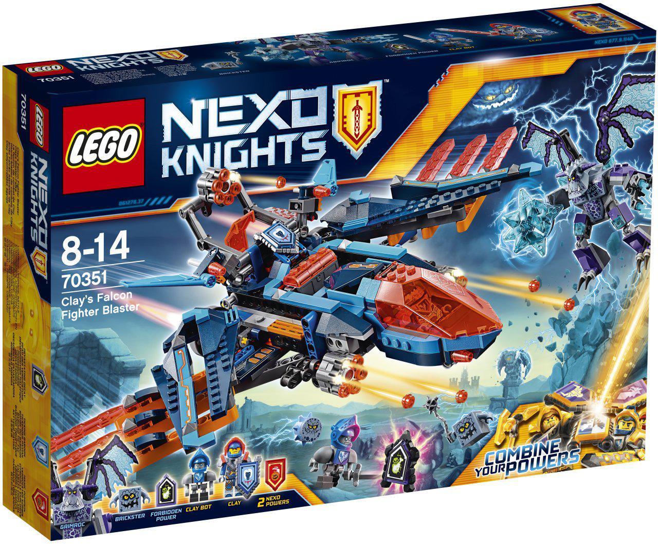 LEGO Nexo Knights Літак-винищувач  «Сокіл» Клея (Самолёт-истребитель «Сокол» Клэя)
