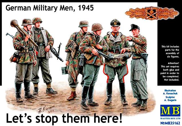 Немецкие военнослужащие, 1945.  Набор пластиковых фигур в масштабе 1/35. MASTER BOX 35162