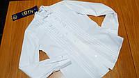 Блуза B.Fly белая с длинным рукавом р.146