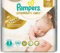 Подгузники Pampers Premium Care 1(2-5кг) 88шт.