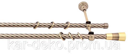 фото Карниз двухрядный металлический для штор Волео kar-deko.com