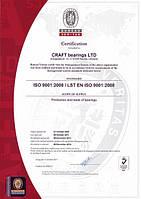 Сертификат технического качества CRAFT bearings
