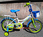 Детский велосипед Crosser Happy 16 дюймов бело-салатовый, фото 4