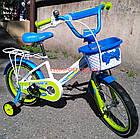 Детский велосипед Crosser Happy 16 дюймов бело-салатовый, фото 5