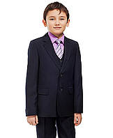 Школьный костюм-тройка для мальчика Lilus, р.146 темно-синий