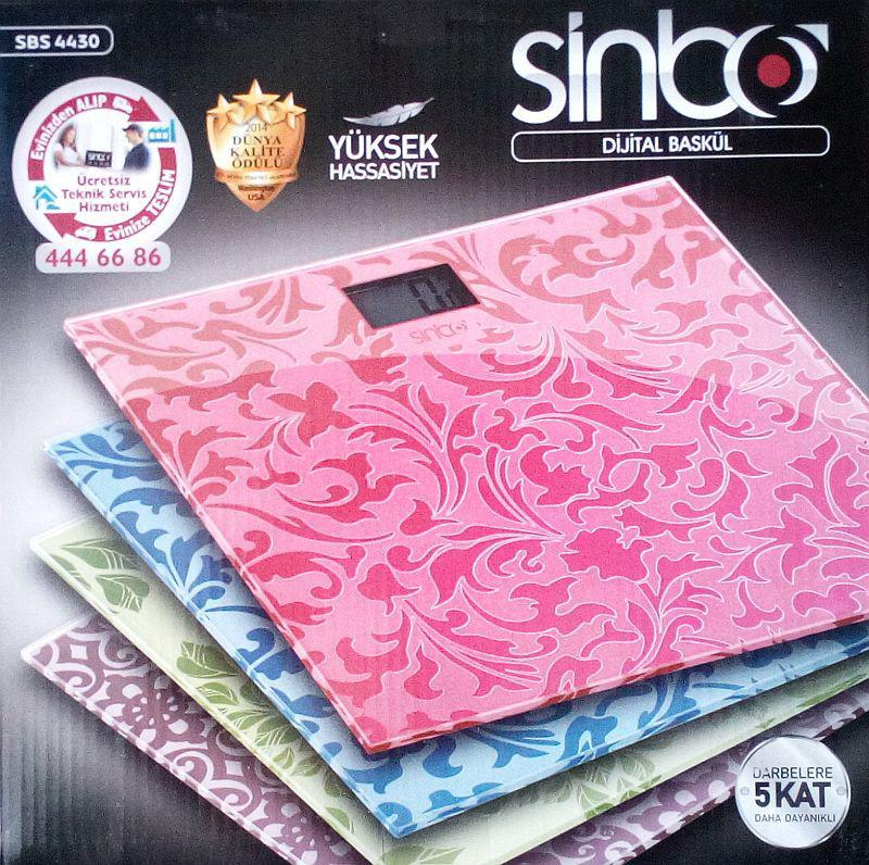 Підлогові ваги Sinbo Sbs 4430 до 150 кг (крок 0,1 кг)