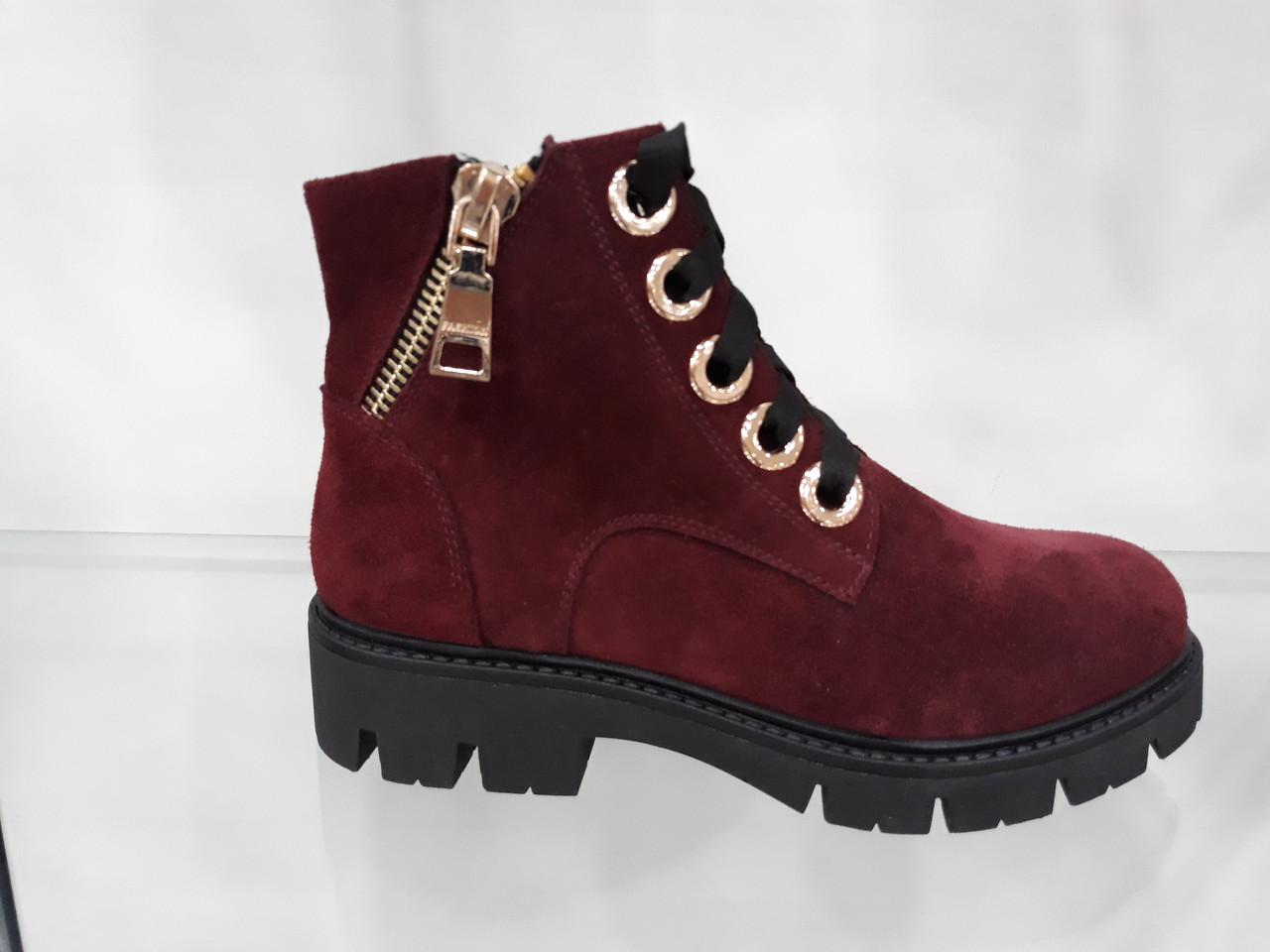 b31a44cd9 Бордовые женские ботинки: продажа, цена в Днепре. ботильоны, ботинки ...