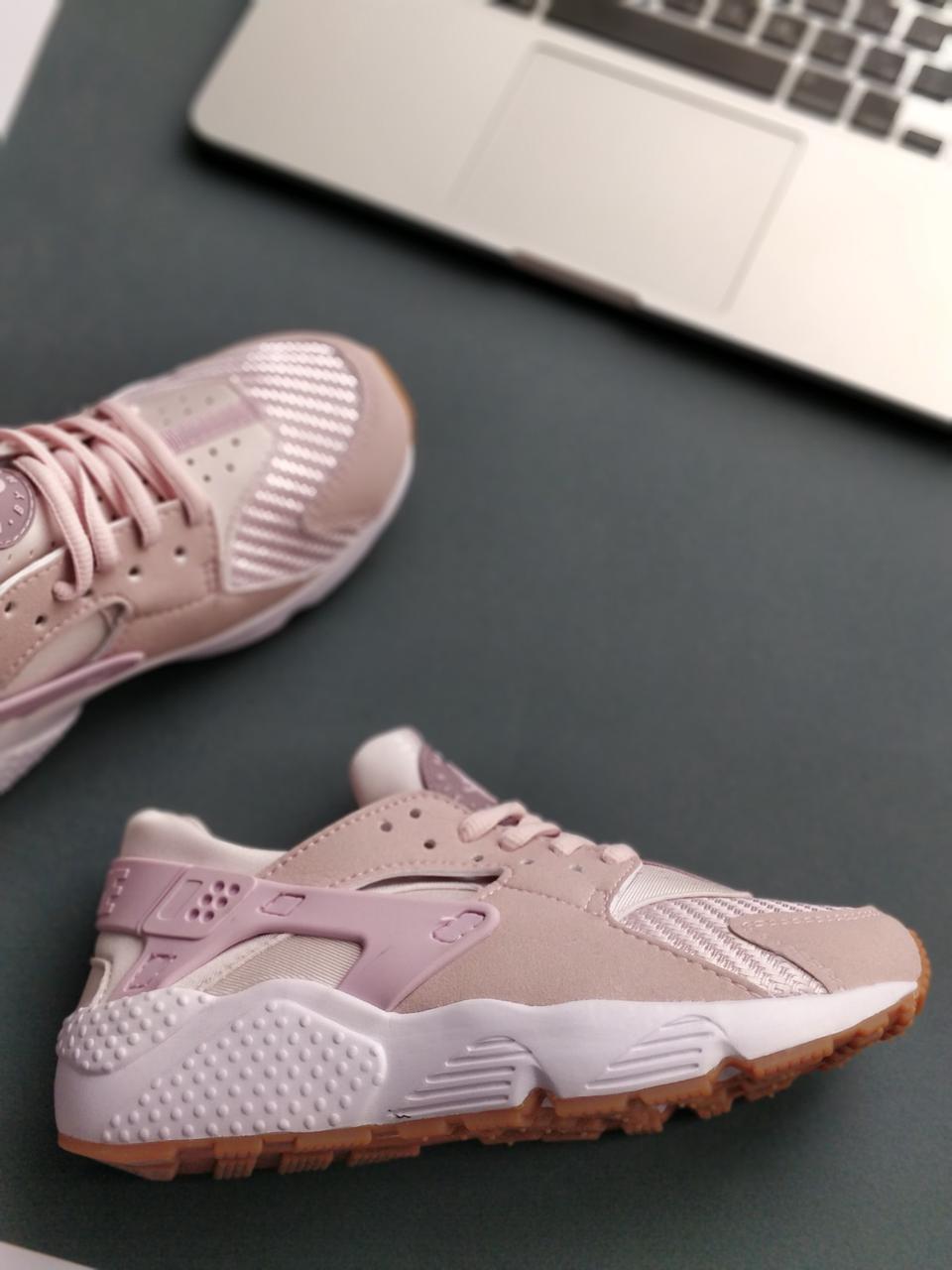 15134ad9 Женские кроссовки Nike Air Huarache Run Premium Pink (ТОП РЕПЛИКА ААА+)
