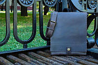 Мужская кожаная сумка мессенджер «Tablet»