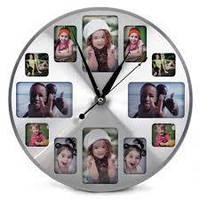 Мультирамка Часы Круглые 12 фоторамок
