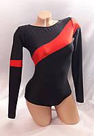 Комбинированный купальник с длинным рукавом для гимнастики