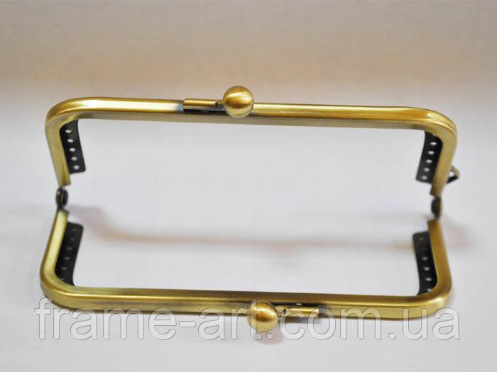 Фермуар квадратний 10см бронза 168064