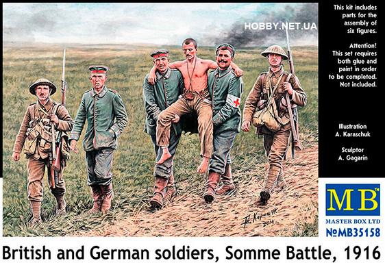 Британские и немецкие солдаты, Битва на Сомме, 1916. 1/35 MASTER BOX 35158