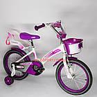 Детский велосипед Crosser Kids Bike 16 дюймов с сиденьем для куклы бело-фиолетовый, фото 4