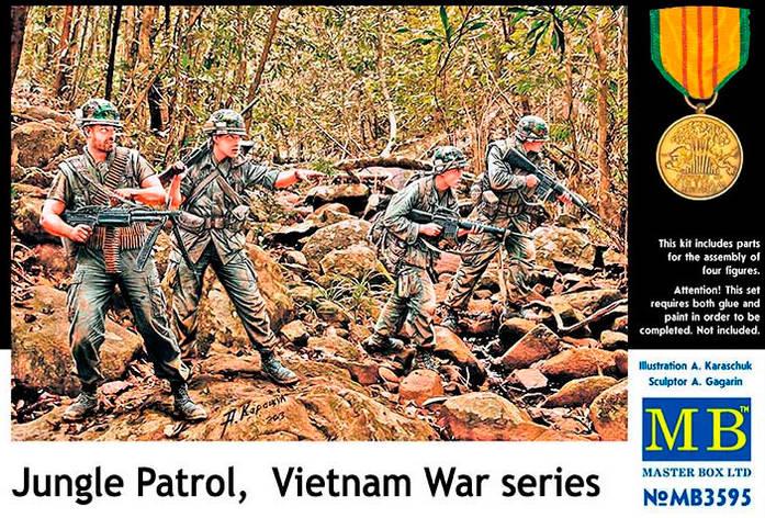 Патруль в джунглях, серия войны во Вьетнаме. 1/35 MB3595, фото 2