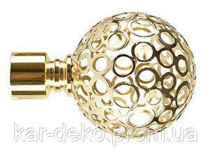 фото наконечника карниза Орнела золото kar-deko.com