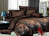 Комплект постельного белья  из полисатина евроразмера 200х220  PS-BL051