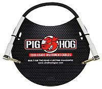 Инструментальный угловой кабель Pig Hog PH1RR 1ft 1/4″ -1/4″ 8mm Instrument Cable