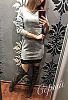 Женское платье с гепюром