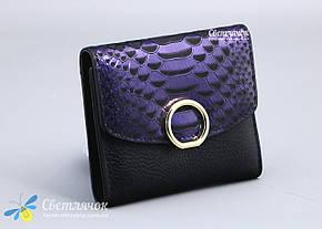 Кошелек женский кожаный маленький красный, фиолетовый MAYSINCE, фото 2