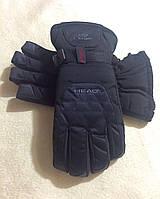 Лыжные зимние теплые перчатки HEAD мужские (L)