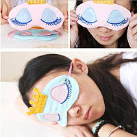 Маска на глаза для сна Спящая принцесса(голубой)