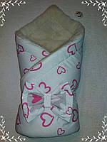 Конверт-одеяло на меху для новорожденного, зима