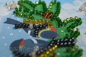 Набор для вышивки бисером магнит  На веточке-1, фото 3