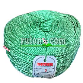 Веревка полипропиленовая 3 мм Мармара ( канат, шпагат, тросс Marmara 200м)