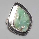 Оригинальное кольцо - природный хризопраз в серебре. Кольцо с хризопразом.18,5 размер. Индия!, фото 2