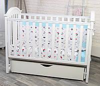 Кроватка для новорожденных Twins iLove маятник/ящик, белый