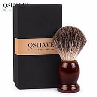Qshave QM 3201 - помазок для бритья из шерсти барсука 9.9х4.6 см