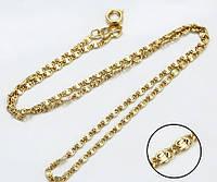 Цепочка 45 см плетение Улитка позолота 14K gold color, фото 1