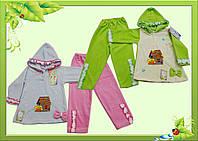Комплект ясельный велюровый: туничка с капюшоном +штаны 22р(рост62-68см) = 140грн, разные
