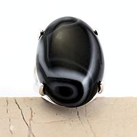 Оникс, 25*18 мм., серебро 925, кольцо, 832КО