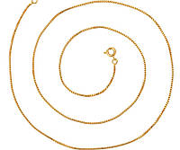 Цепочка покрытие позолотой 50 см 24K gold color, фото 1