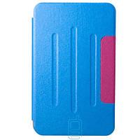 Чехол-книжка для Samsung Galaxy Tab 3 SM-T110 пластиковая накладка Folio Cover Голубой