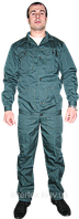 Костюм робочий тк. грета зелений (з напівкомбінезоном)