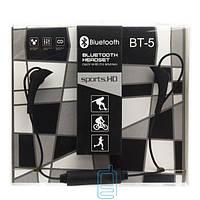 Bluetooth наушники с микрофоном BT-5 черные