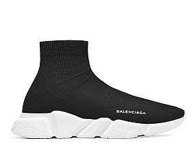 Кроссовки женские Balenciaga - Black\White, материал -  текстиль, подошва - пена