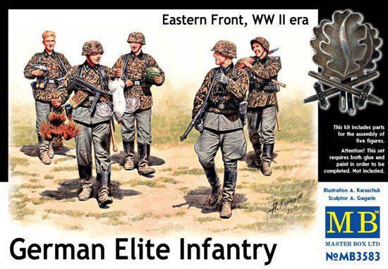 Немецкая элитная пехота, Восточный Фронт, период Второй мировой войны. 1/35 MASTER BOX 3583, фото 2