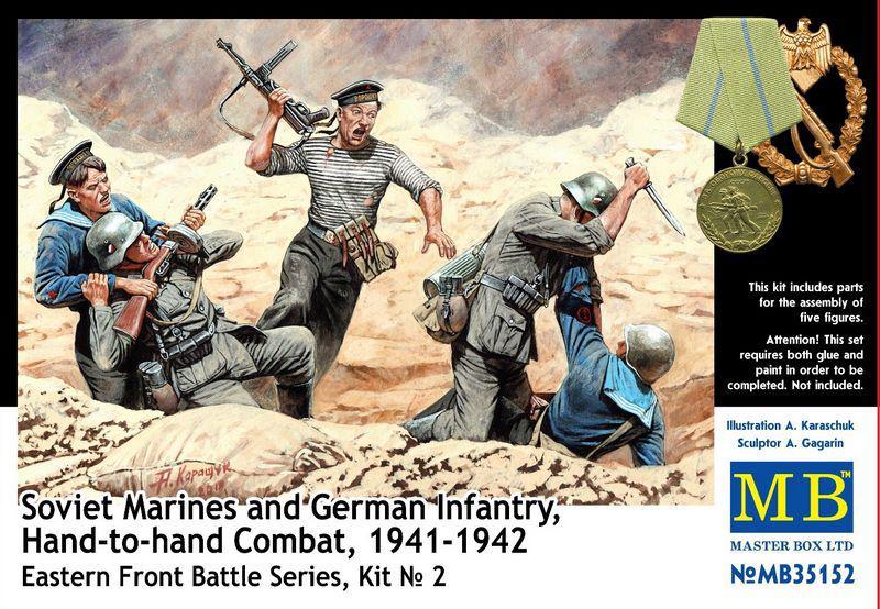 Советские моряки и германские пехотинцы в рукопашной (1941-42). 1/35 MASTER BOX 35152