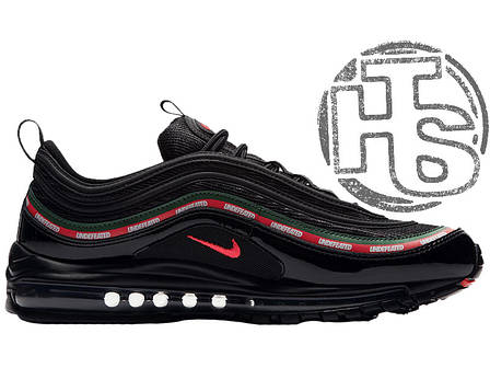 Мужские кроссовки Nike Air Max 97 OG x Undefeated Black/Gorge Green/White/Red AJ1986-001, фото 2
